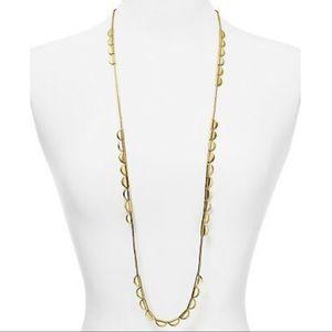 $128 Kate Spade sweetheart scallop wrap necklace